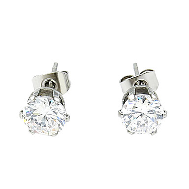 Women's Crystal Stud Earrings - For Daily