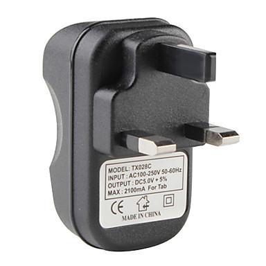 المملكة المتحدة نوع USB شاحن AC لتطلب الشركة تطلب الشركة الجديدة و2 (أسود)