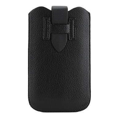 Protective PU Leather Case Pouch for Samsung Galaxy S2 I9100 (Black)
