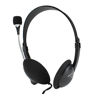 Kanen Stereo Powerful Bass Coherence-mute Headphone with Microphone and Volume Control (Black)