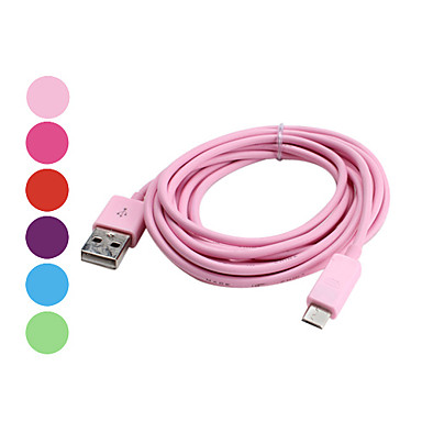 USB Synk & Laddnings kabel för Samsung Galaxy S3 i9300, i9100 och andra (blandade färger, 300cm längd)
