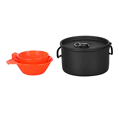 1-2 People Camping Cookset(1L Pot+200ML Bowl+175ML Cup)