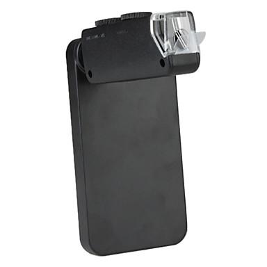 60x til 100x mikroskop kameralinsen med hardt tilbake tilfelle for iPhone 4 og 4s