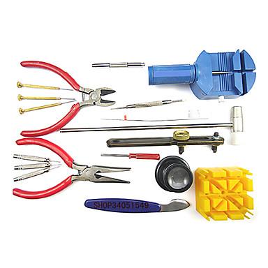 18 Pieces Deluxe Wrist Watch Repair Tool Kit Set Case