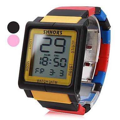 unisex berøringsskjerm plast digital automatisk armbåndsur (assorterte farger)