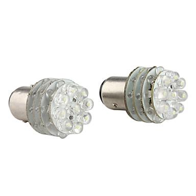 1157 1.08W 36-LED White Light Bulb for Car Brake Signal Lamps (2-Pack, DV 12V)