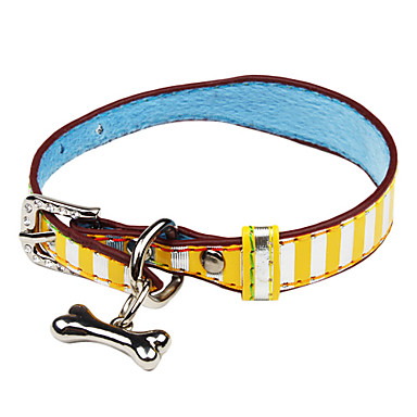 Adjustable Stripe Pattern Collar for Dogs(Assorted Color,Size S)
