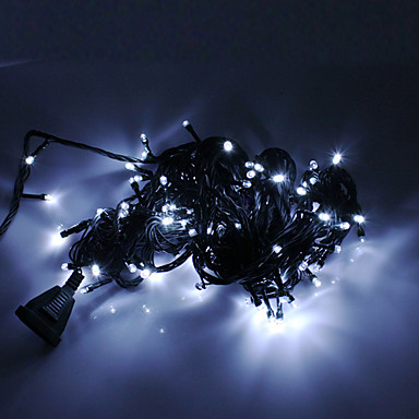 Festival Decoration 100-LED 8-Mode White Light Icicle Lamps for Christmas Party (220V)