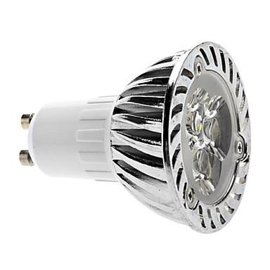 Faretti LED 3 LED ad alta intesità MR16 GU10 3W Intensità regolabile 280 LM Bianco AC 220-240 V
