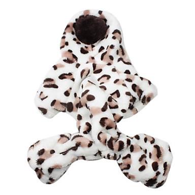Leopard painokuvion untuvainen takki huppari koiran (S-XL)