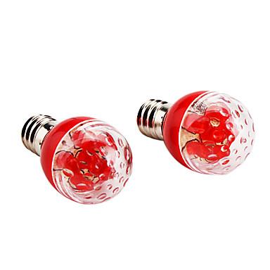 E27 0.3W 15-20LM Red Light Night Bombilla LED (2-Pack, 220V)