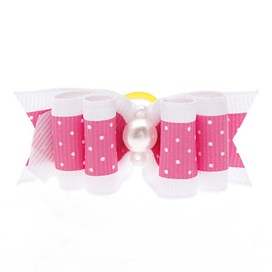 Hair Accessories for Dogs / Cats White Spring/Fall Terylene