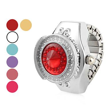 Círculo de Mujeres La mitad de aleación de anillo reloj analógico de cuarzo (colores surtidos)