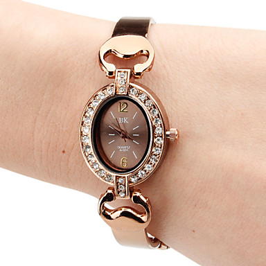 Women's Alloy Analog Quartz Bracelet Watch (Brown)