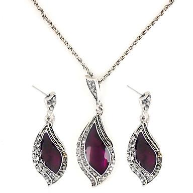 Mujer Plata de ley Conjunto de joyas Pendientes / Collare - Moda Para Fiesta / Cumpleaños / Pedida