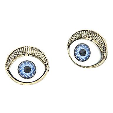 Color de ojos plateados de armas de aleación pendientes de piedras preciosas