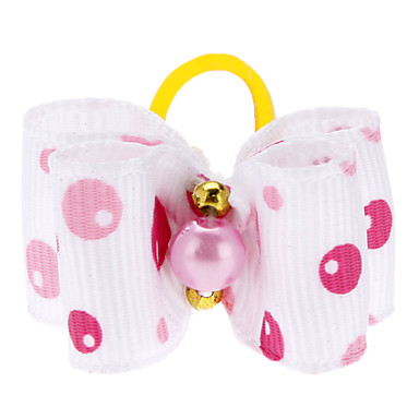 Cute Bubble Pattern Tiny Rubber Band Hair Bow for Dogs Cats(Assorted Color)
