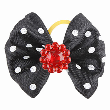 Elegant Flower Style Tiny Rubber Band Hair Bow for Dogs Cats(Assorted Color)