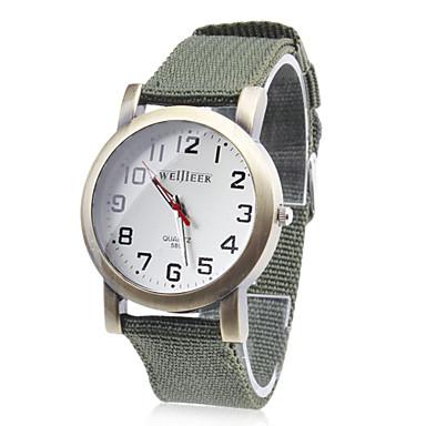 Herr Armbandsur Quartz Tyg Band Grön