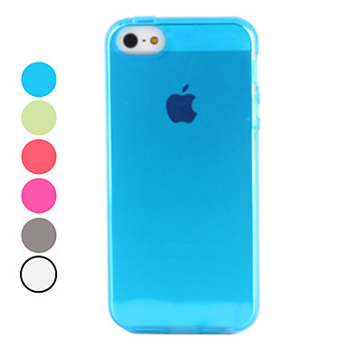 Case For iPhone 5 Case Transparent Back Cover Solid Color Soft TPU for iPhone SE/5s iPhone 5