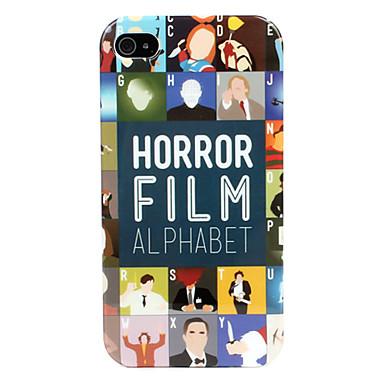 Caso Horror alfabeto duro para o iPhone 4/4S