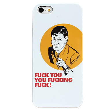 Man Pattern Hard Case for iPhone 5/5S