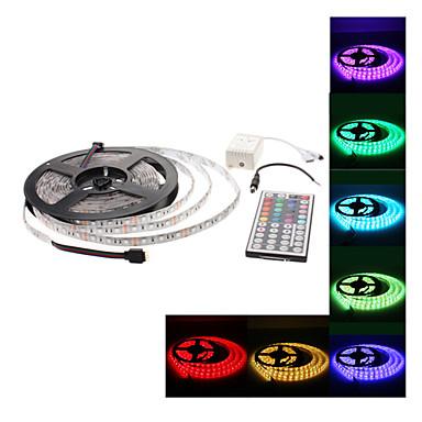 방수 5m 300x5050 SMD RGB 빛은 44 버튼 리모컨 세트 (12V)와 스트립 램프를 주도