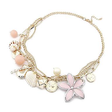 Ozeanwind Schale und Blumen-Halskette