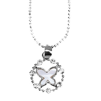 Diamond Necklace Butterfly Aleaciones