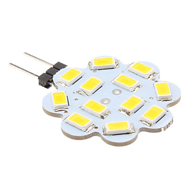 1 W Becuri LED Bi-pin 100-150 lm G4 12 LED-uri de margele SMD 5630 Alb Cald 12 V
