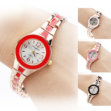 Women's Quartz Analog Gold Alloy Band Bracelet Watch (Assorted Colors) Cool Watches Unique Watches Strap Watch