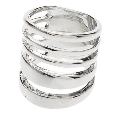 z&x® anillo de cinco círculo plateado