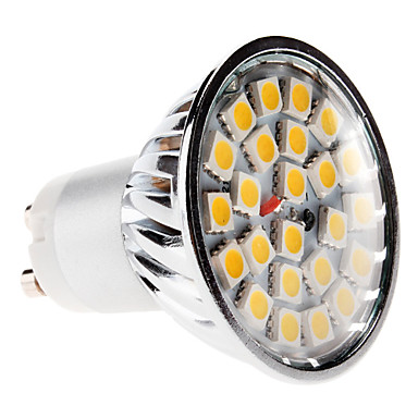GU10 5 W 24 SMD 5050 420 LM Warm White MR16 Spot Lights AC 220-240 V