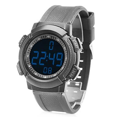 unisex in gomma digitale ha portato sport orologio da polso con frequenza cardiaca (nero)