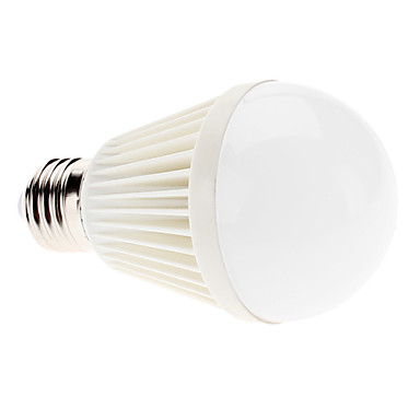 7W 6000lm E26 / E27 LED Globe Bulbs A60(A19) 7 LED Beads High Power LED Natural White 100-240V