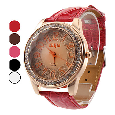 Women's Shinning Design PU Analog Quartz Wrist Fashion Watch (Assorted Colors) Cool Watches Unique Watches
