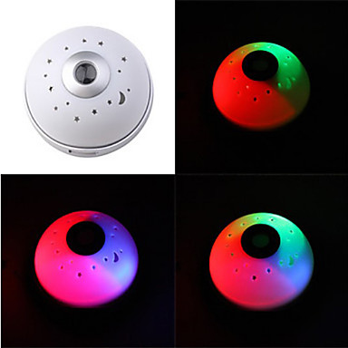 Color Changing Star Projector LED Light Alarm Clock  (3xAAA)