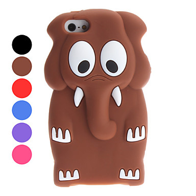 3D Design Cartoon Elephant Pattern Soft Case for iPhone 5/5S (Assorted Colors)