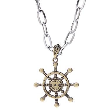 Una dirección Piece Wheel Alloy Necklace