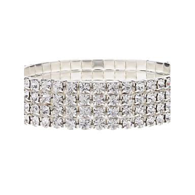Women's Crystal Imitation Diamond Tennis Bracelet - Luxury Silver Bracelet For Party