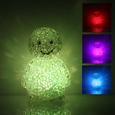 Cute Doll Shaped Colorful Light Crystal LED Night Lamp (3xLR44)