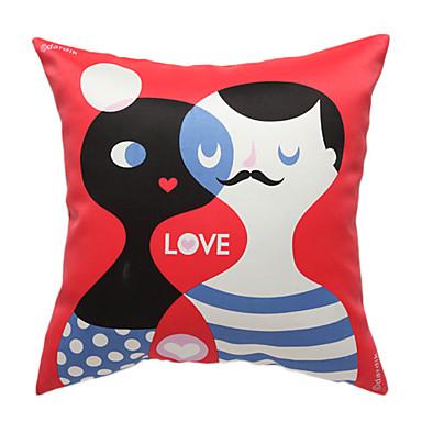 aşk hikayesi baskı dekoratif yastık örtüsü