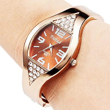 Dames Modieus horloge Armbandhorloge Kwarts Legering Band Bangle armband Elegante horloges Brons