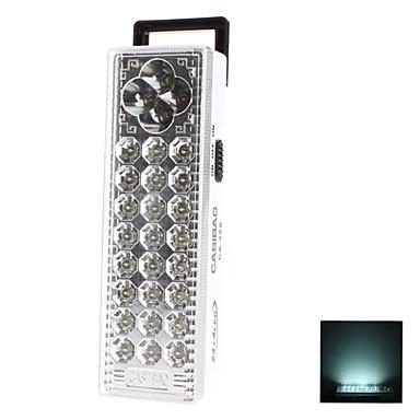 28-LED de luz blanca 2 Modos de Iluminación LED recargable Lámpara de Seguridad (220)