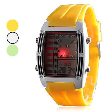 Borracha homens de pulso analógico LED - Assista Digital (cores sortidas)