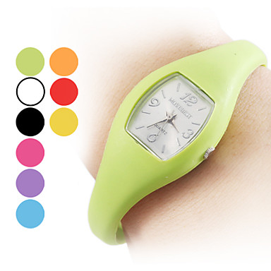Unisex Silicone Analog Quartz Wrist Watch (Assorted Colors)
