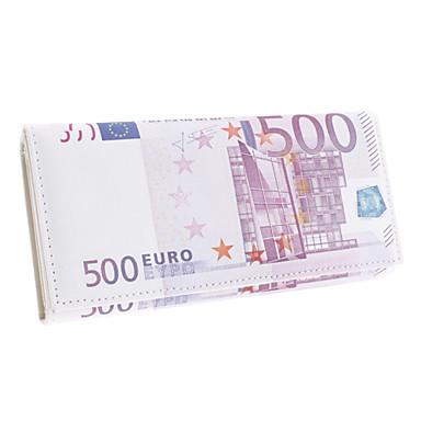 Creative 500 Euro Bill Pattern Long Wallet