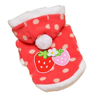 Reizende Erdbeere Spot Pattern Mantel mit Hoodies for Dogs (Red, XS-XL)
