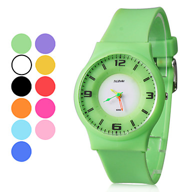 Unisex Wrist Style Rubber Analog Quartz Watch (Assorted Colors)