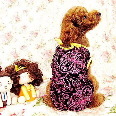 Lovely Floral-Print Dress for Dogs (Random Lace Color,S-XXL)